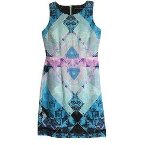 Ivanka Trump sleeveless geometric dress